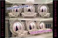 Asian Wedding Designer Oval Backdrop Panels