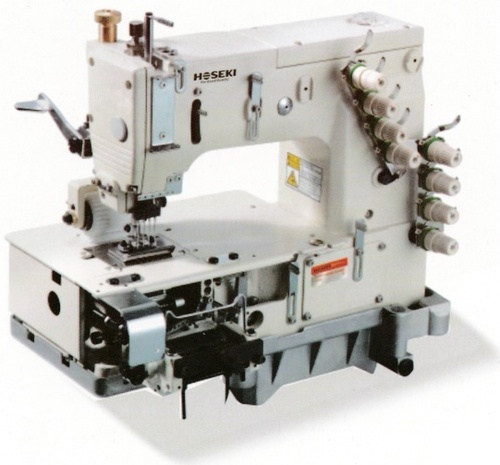 Flat Bed MultiNeedle Sewing Machine With Elastic Device Flat Bed Simple 4 Needle Elastic Sewing Machine