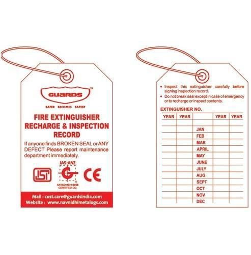 Fire Extinguisher Maintenance Tag