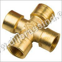 Brass Female Four way Connector