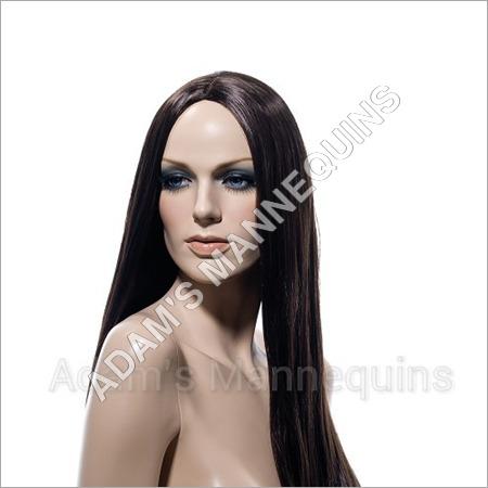 Plastic Female Wig Mannequins