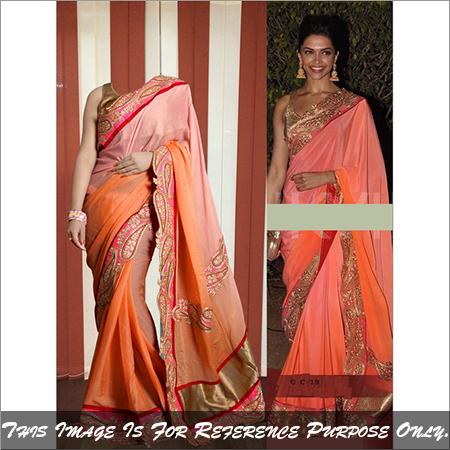 Ethnic Latest Stylish Saree Bollywood Replica Party Wear Designer Sari