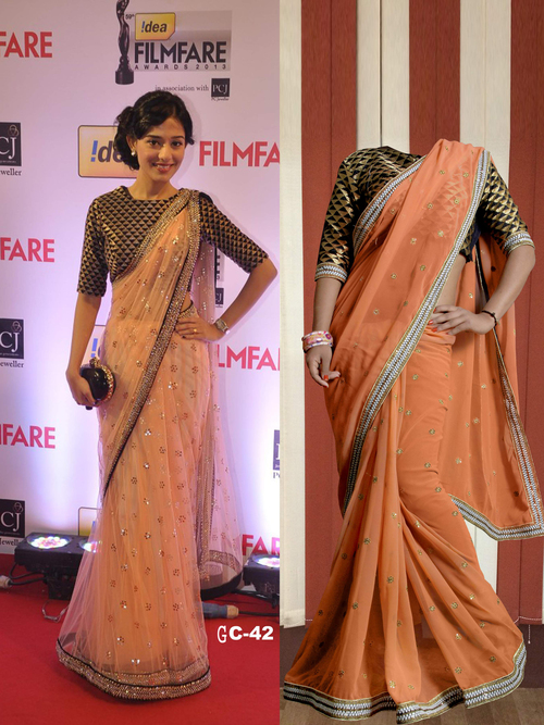 Bollywood Replica Ethnic Saree Latest Stylish Party Wear Bridal Sari
