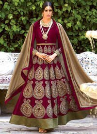 SEMI STITCHED ANARKALI SUITS