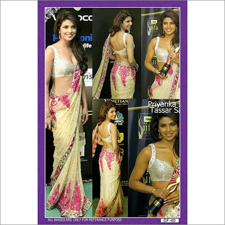 Bollywood replica Designer Priyanka tassar saree