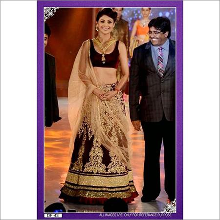 Bollywood replica Designer Shilpa Shetty Velvet Lengha