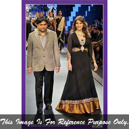 Bollywood replica Designer Madhuri dixit Black gown Suit