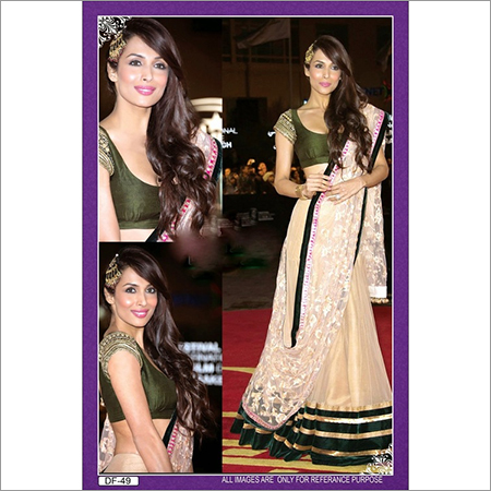 Bollywood Replica Designer Mallka Arrora Khan Cream Lehenga