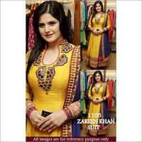 Bollywood Replica Zareen khan Fancy Stylish Yellow Suit
