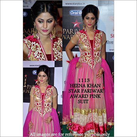 Bollywood replica Designer Heena khan Fancy Suit Suit