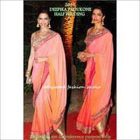 Bollywood replica Designer Deepika fancy Sari Half