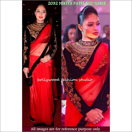 Bollywood replica Designer Nikita Patel Fancy Nett Sari