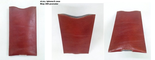 Elegant leather mobile-case