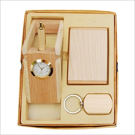 Wooden Desktop Gift Set