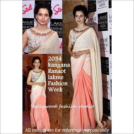 Bollywood replica Designer Kangana Fancy Nett Lakme Fashion Saree