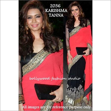 Bollywood replica Designer Karshima Tanna Stylish Exelusive Fancy Sari