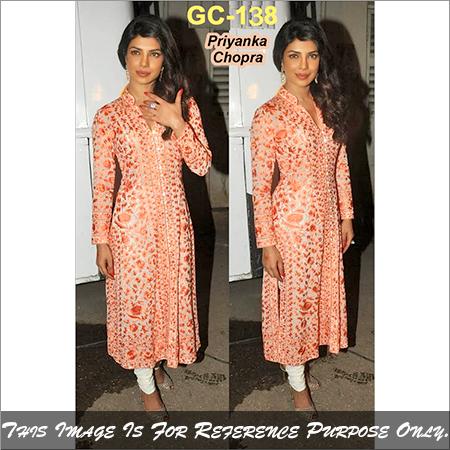 Bollywood replica Anarkali Priynaka Light Chiku Fancy Suit