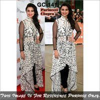 Bollywood replica Designer Parineeti cotton Stylish Black Suit