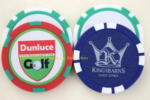 Poker Chip Gold Ball Markers