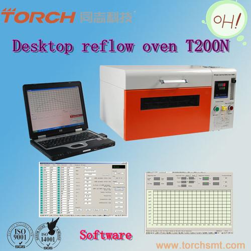 Desktype mimi nitrogen lead-free reflow oven T200N in electric industry