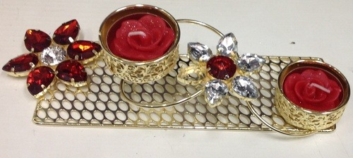 Fancy Metallic Diya