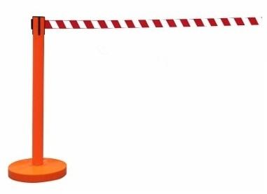 Retractable Queue Barrier