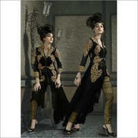 Black Pure Georgette Embroidered salwar suit