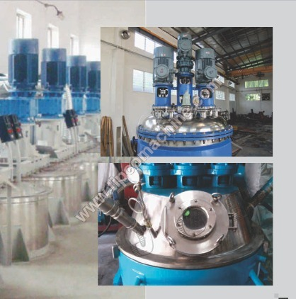 Twin Shaft Disperser with mixing vessels