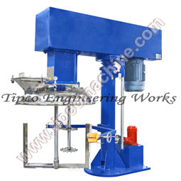 Twin Shaft Disperser with Hydraulic Lift