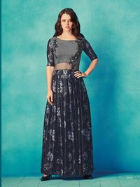 Fancy Long Gown Style Kurti