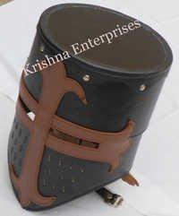 Medieval Leather Crusader Helmet