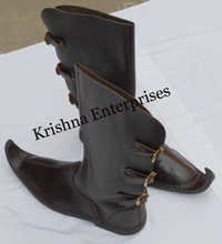 Brown Leather Armor Boot