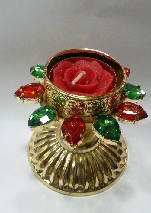 Indian Metallic Diya