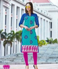 Long Printed Cotton Kurti
