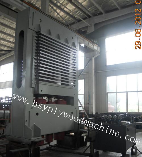 Furnierholz-heiße Presse-Maschine