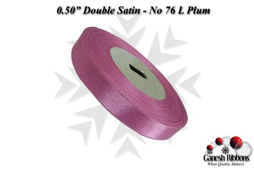 Double Satin Ribbons - Light Plum