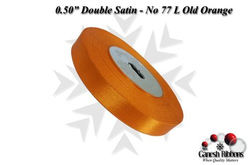 Double Satin Ribbons - Light Old Orange