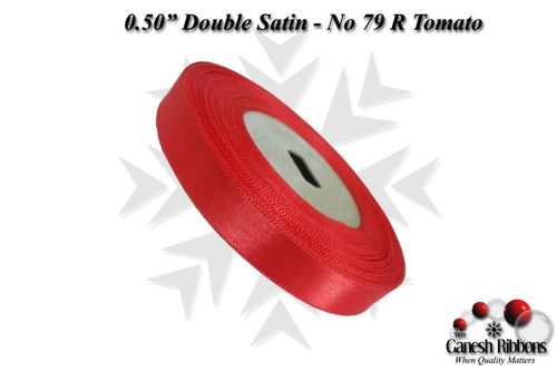 Double Satin Ribbons - R Tomato
