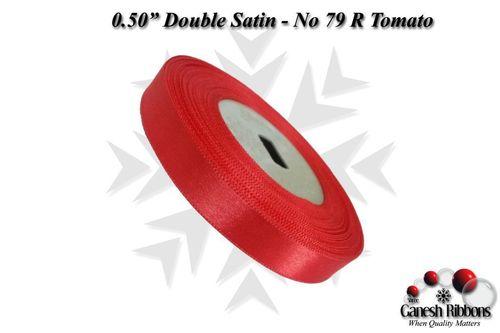 Double Satin Ribbons - R Tomato