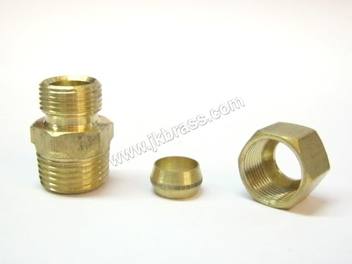Brass Compression Union with Sleeve and Nut