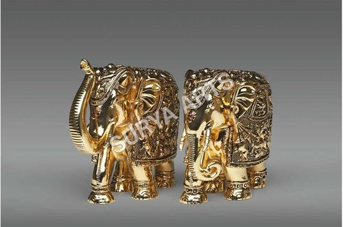 Gold Plated Elephant Statue