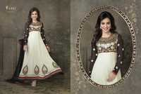 Semi Stitched Anarkali Suit