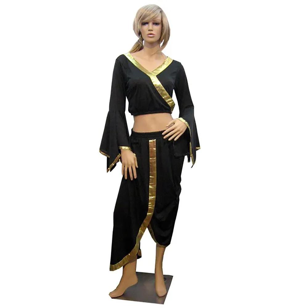 Party Wear Black Belly Dance Costume