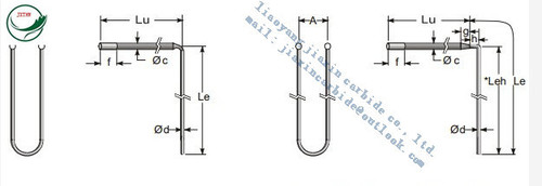 L Bent MOSI2 Heating Element