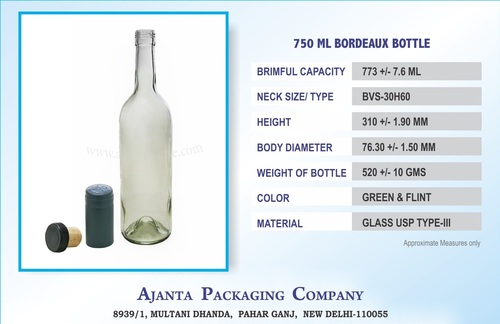 750 ML FLINT BORDEAUX BOTTLE