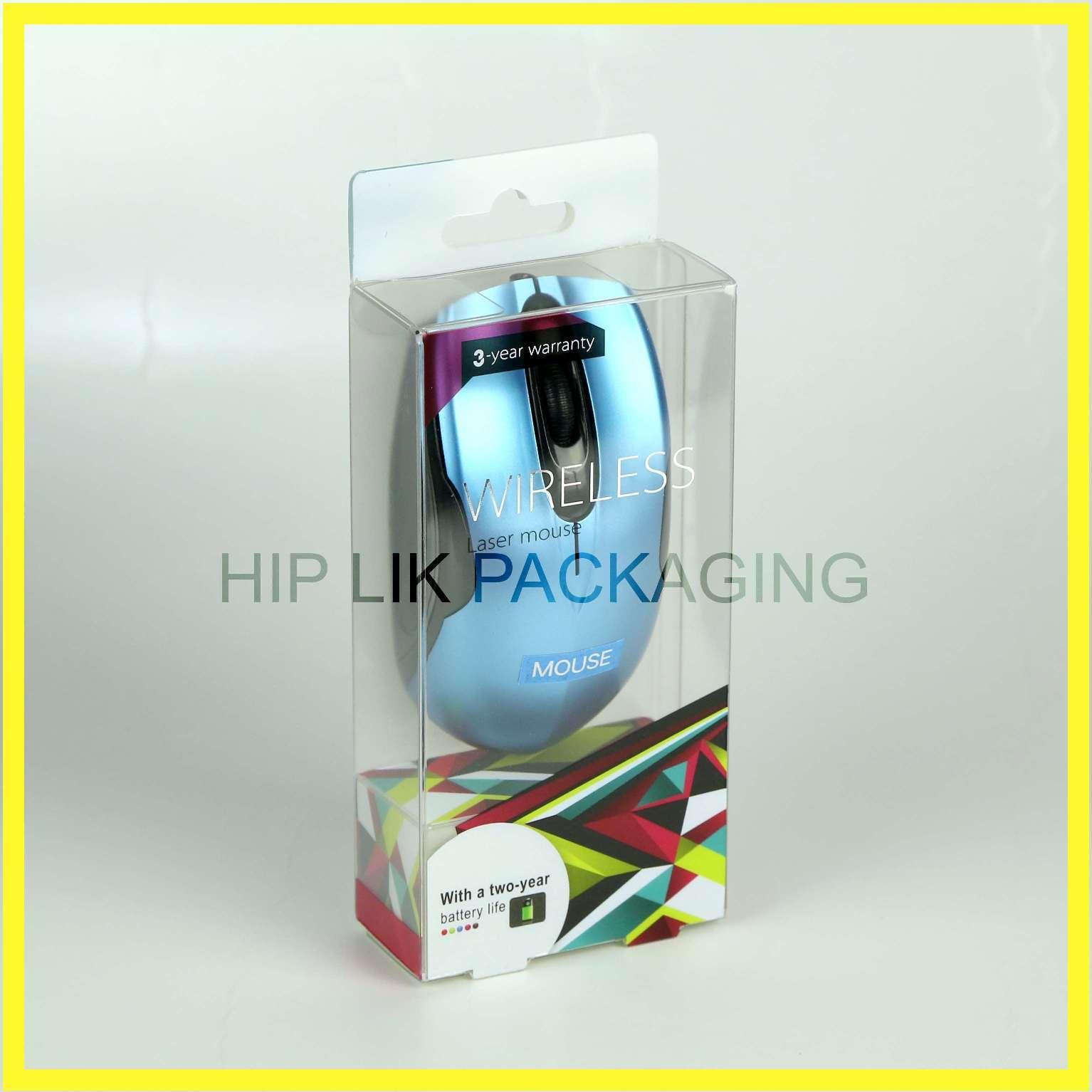Transparent packaging box