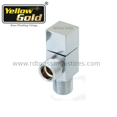 Brass Angle Valve CP Finish