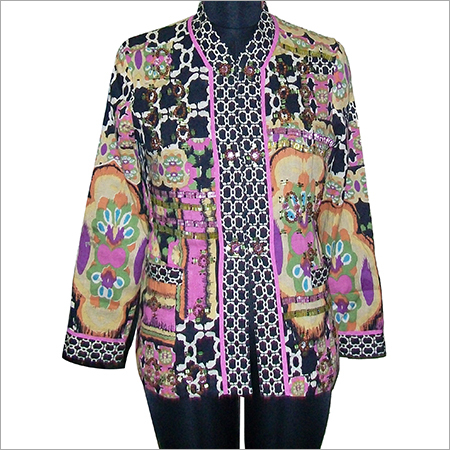 Designer Printed Duster Jacket