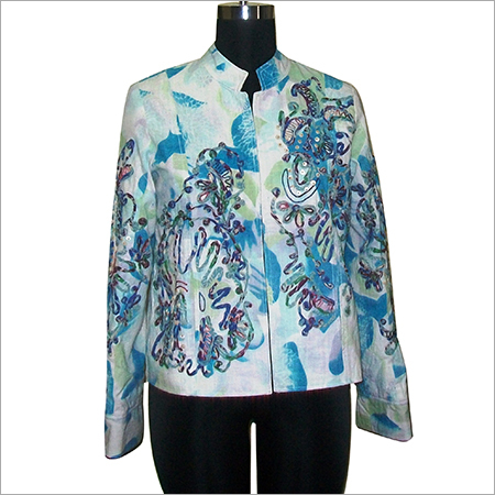Printed Faux Silk Duster