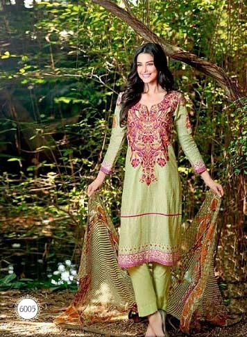 Designer Pure Cotton Silk Salwar Kameez